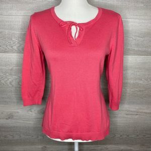 Pink Top by Talbots Size Small Petite 100% Cotton